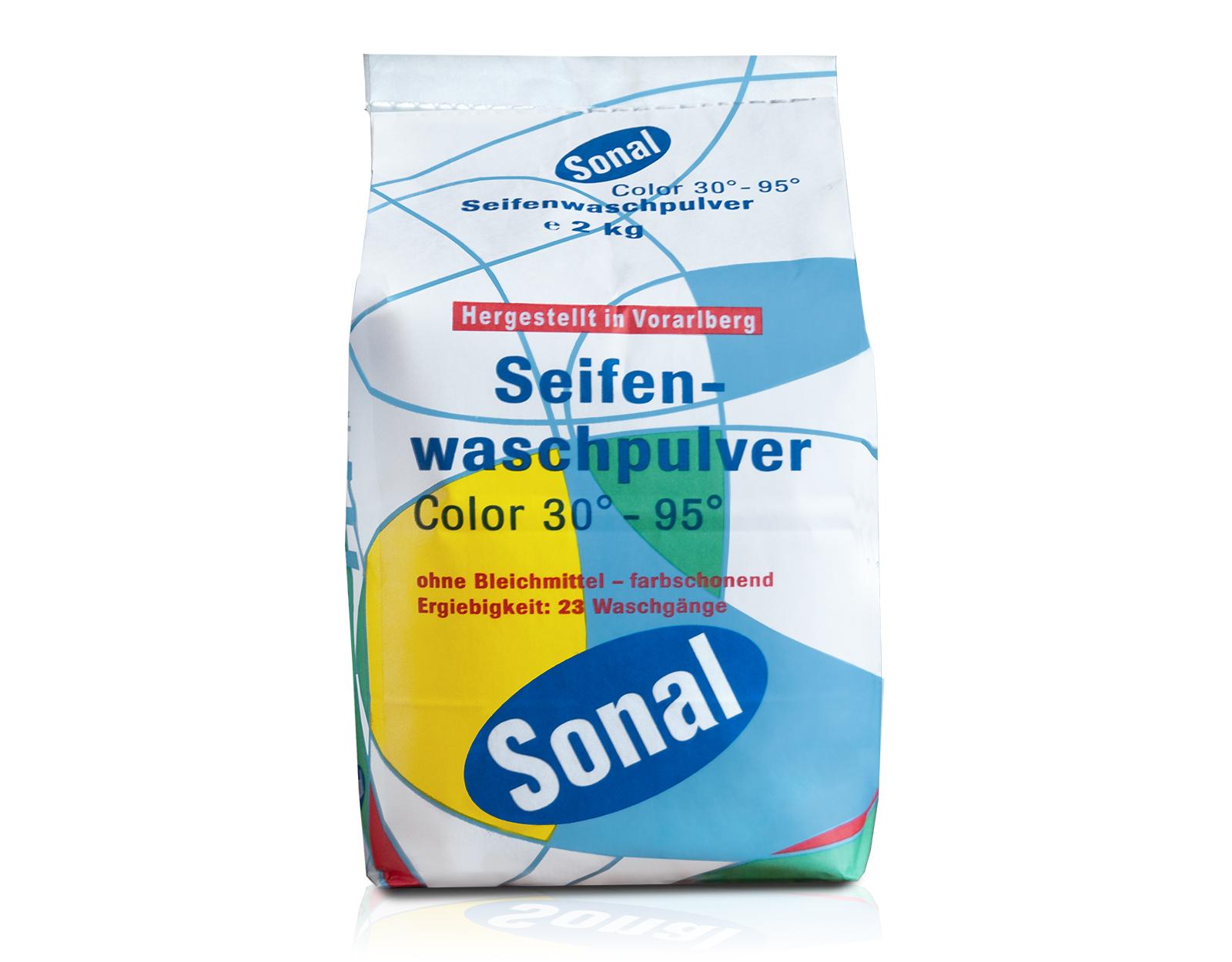Seifenwaschpulver Color 30°-95°, 2 kg | Sonal